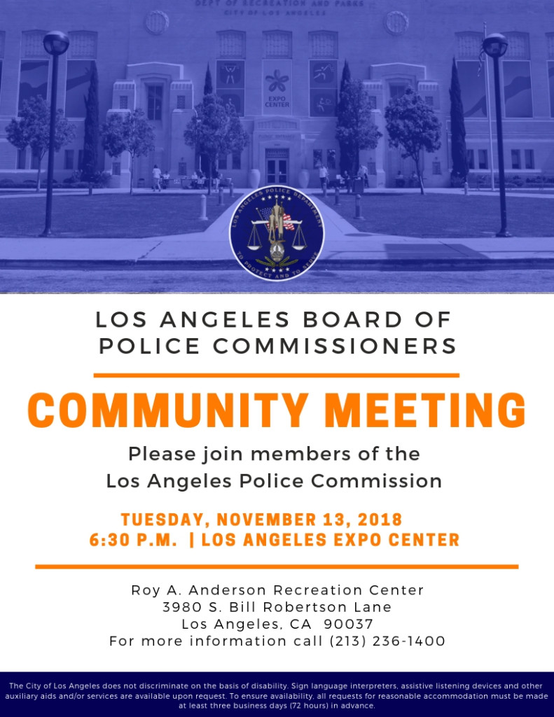 Community Meeting 111318